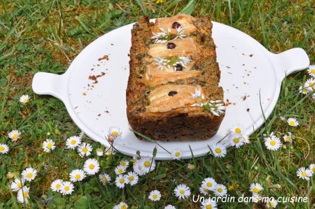 cake épinards ail des ours