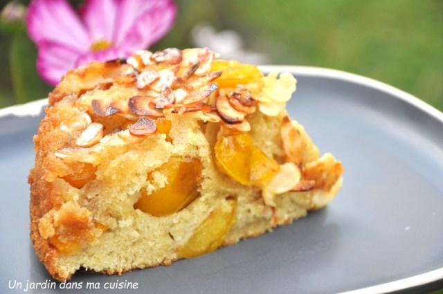 gâteau mirabelles amandes effilées