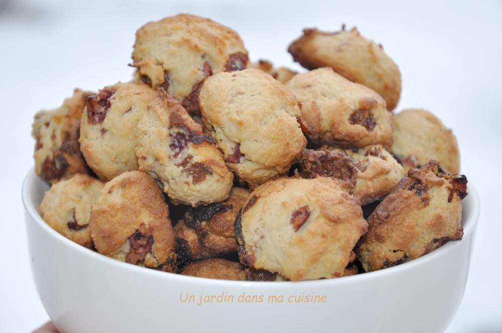 petits biscuits raisins secs canneberges