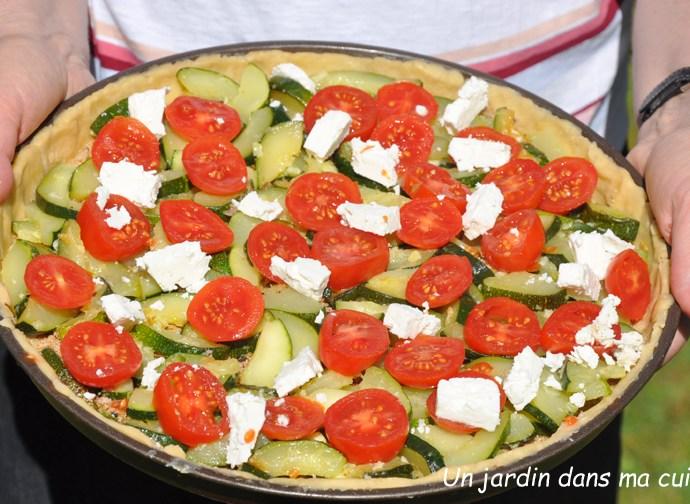 Tarte courgettes tomates feta