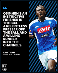 Key Statistics as Napoli announce the signing of striker Victor Osimhen from Lille