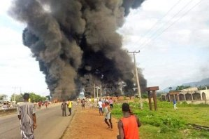 Breaking News: Black Wednesday as over 10 persons are reportedly killed in Rush-hour Kogi Petrol Tanker Explosion (Video).