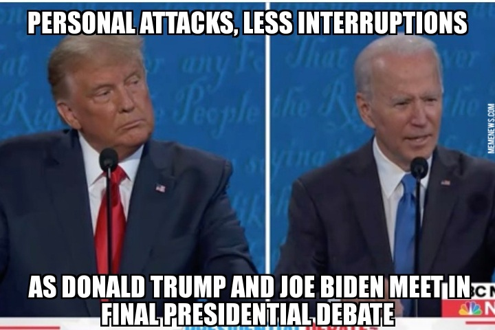 Debates 2020 Funny Memes and Top Tweets: Donald Trump, Joe Biden, Mute Button, Abraham Lincoln and Kristen Welken. [Full Video of Latest Round of Presidential Debates 2020]
