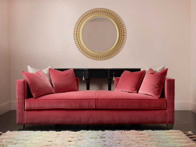 cynthia rowley for hooker furniture curious daybed pretty shaped console and round mirror