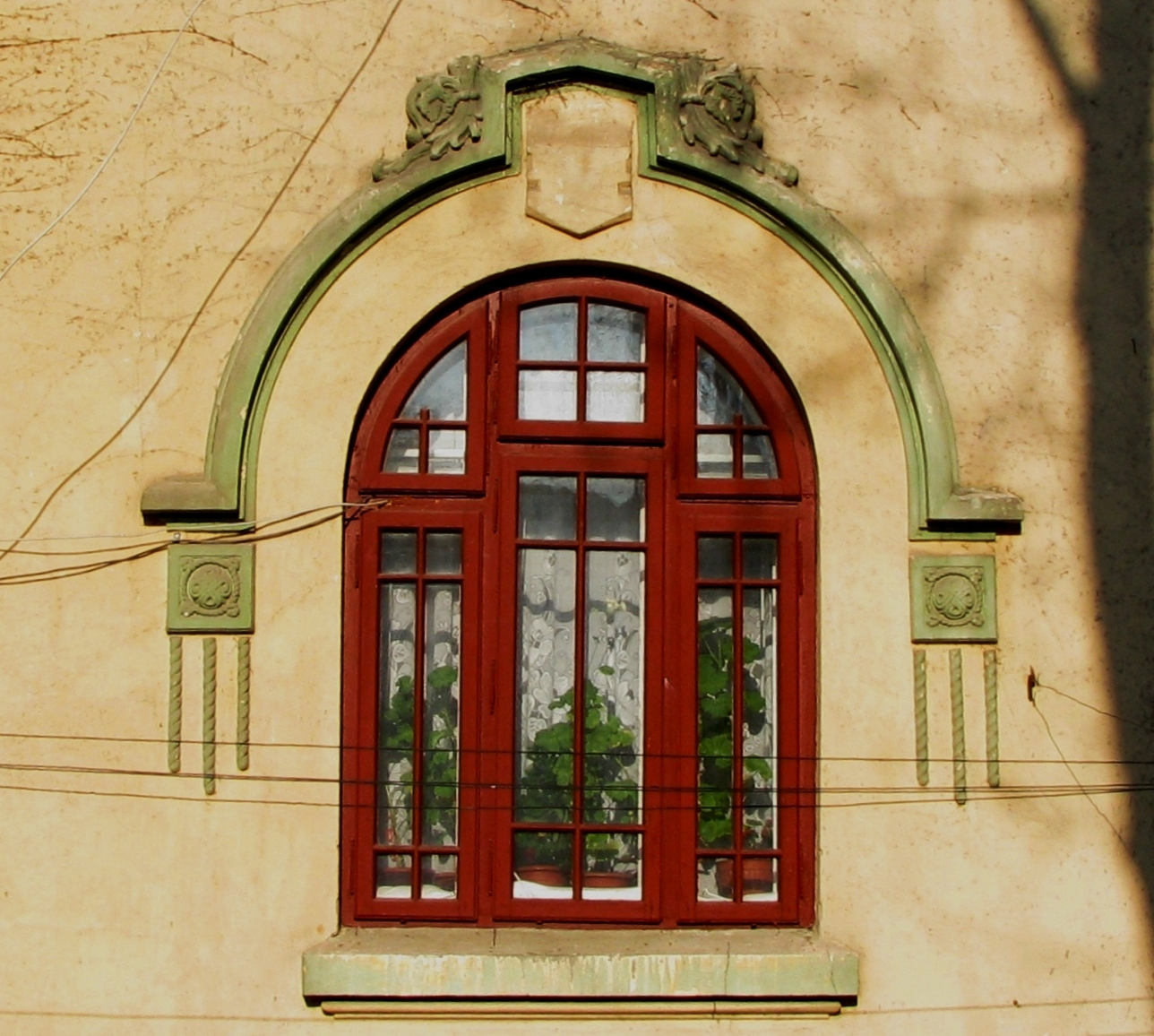 National Romantic And Neo Romanian Style House Windows In