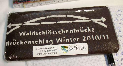 Brückenlebkucken vom sächsischen Verkehrsministerium mit falscher Schreibweise.