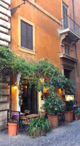 View of restaurant exterior at La Lupa, Rome
