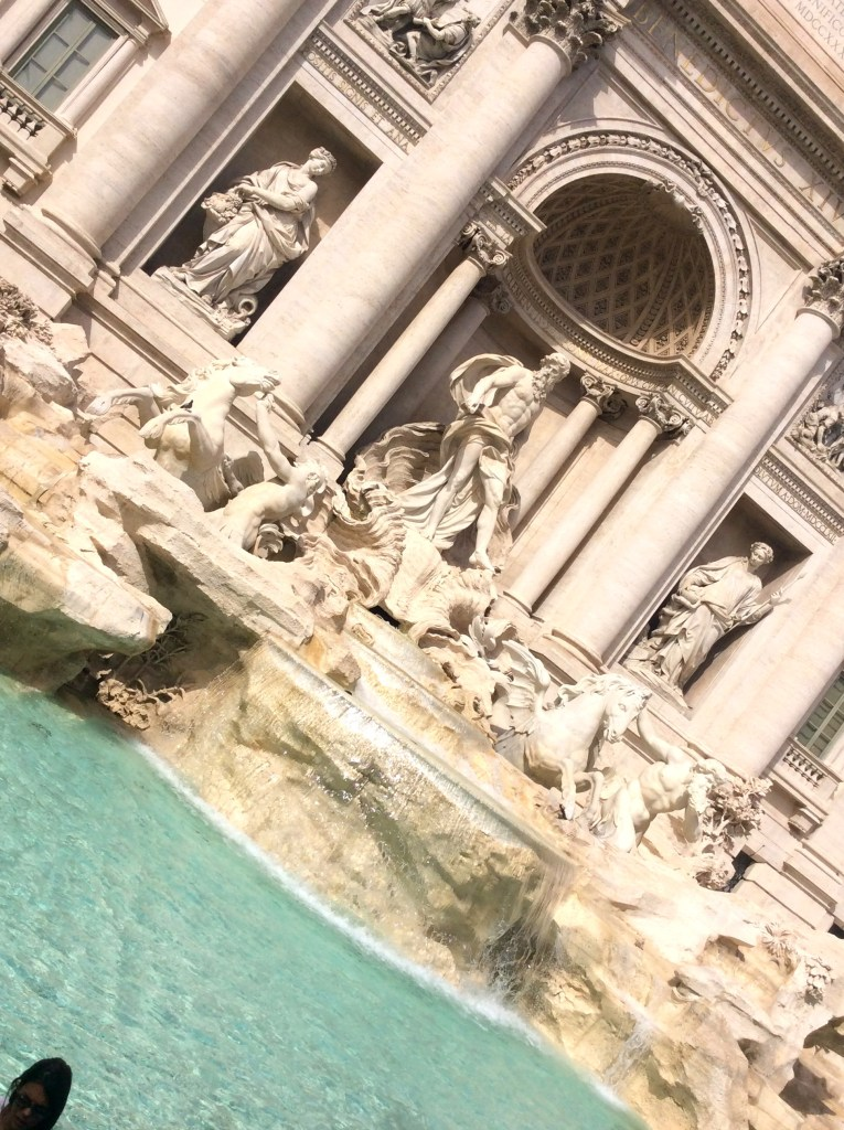 View of tourist at the Trevi Fountain, Rome