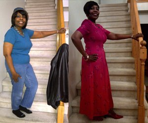 lauretha lost 25 lbs ND 44 IN