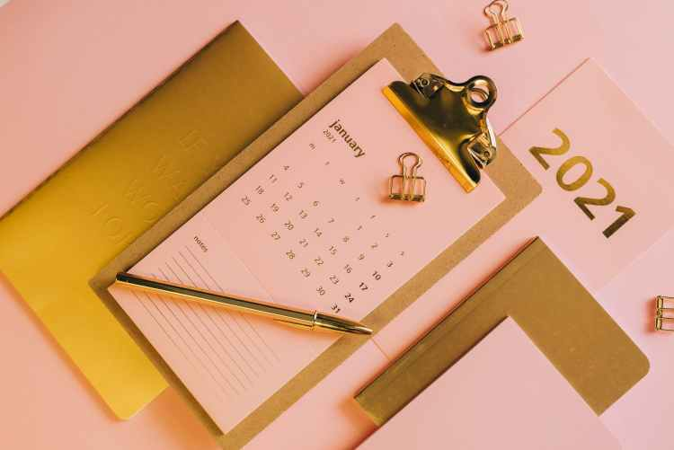 minimalistic composition with stationery