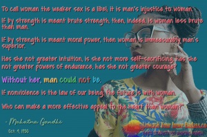 The Power of a Woman - Mahatma Gandhi