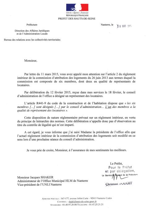 2015-03-06 78&79 - CAL au Préfet (Réponse)