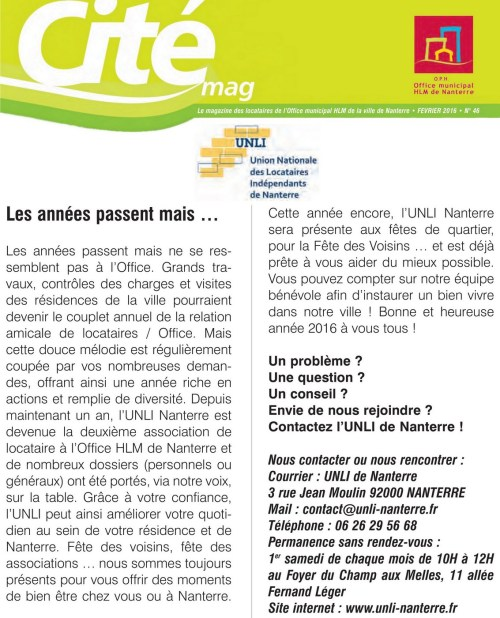 Tribune Cité Mag 46 - 2016-02