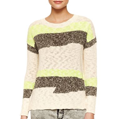 MNG by Mango Open Stitch Multi Color Sweater