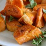 herb roasted sweet potatoes