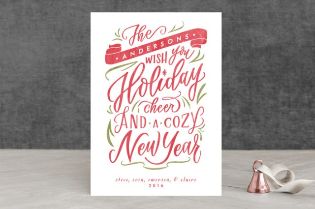Minted Holiday Card