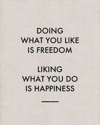 Freedom and Happiness Inspirational Quote