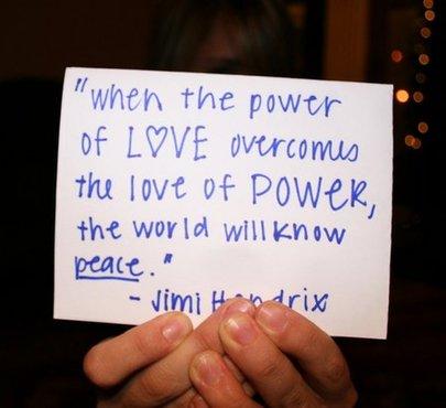 Jimi Hendrix Inspirational Quote