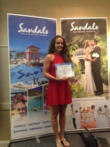 Sandals Certification 2015 Jessica