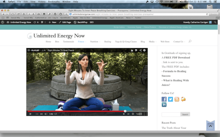 """""""Eight Minutes To Inner Peace, Introduction to Pranayama"""""""