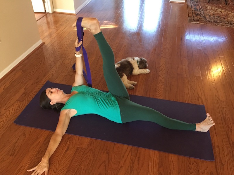 Hamstrings Stretch With Wrist Traction
