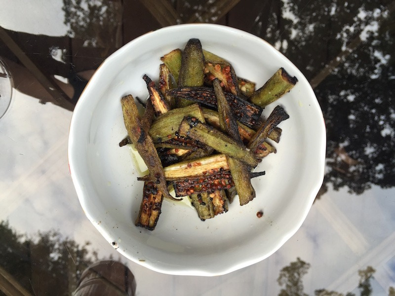 Sauteed Okra with Lemon Juice and Olive Oil