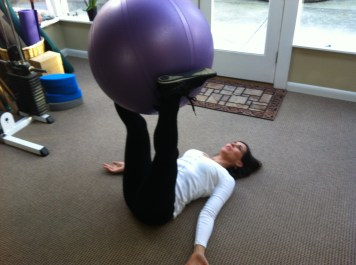 Supine Swiss Ball Twist