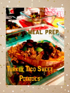 Ground Turkey Taco Sweet Potato. An easy, healthy, and delicious meal prep!