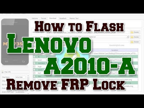 How to Flash Lenovo A2010-A | Remove FRP Lock | Flash file or FRP Tool