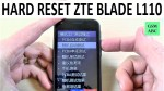 HARD RESET ZTE Blade L110 | How to | Restore
