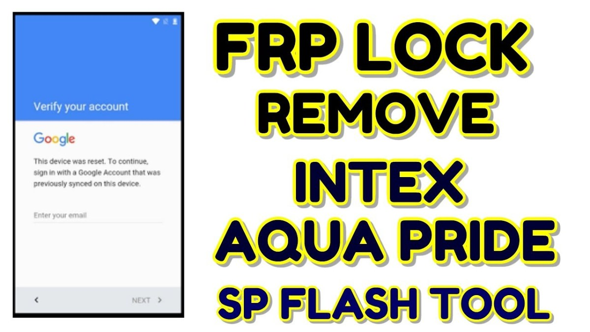 Intex Aqua Pride FRP Lock Remove with SP Flash tool | Hindi