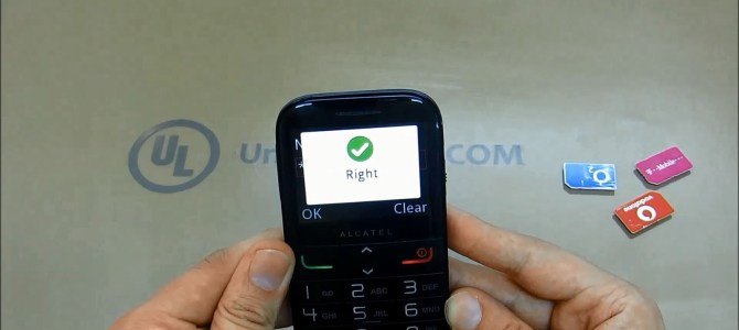 How To Unlock Alcatel One Touch 20.04C (OT-2004C) by Unlock Code.