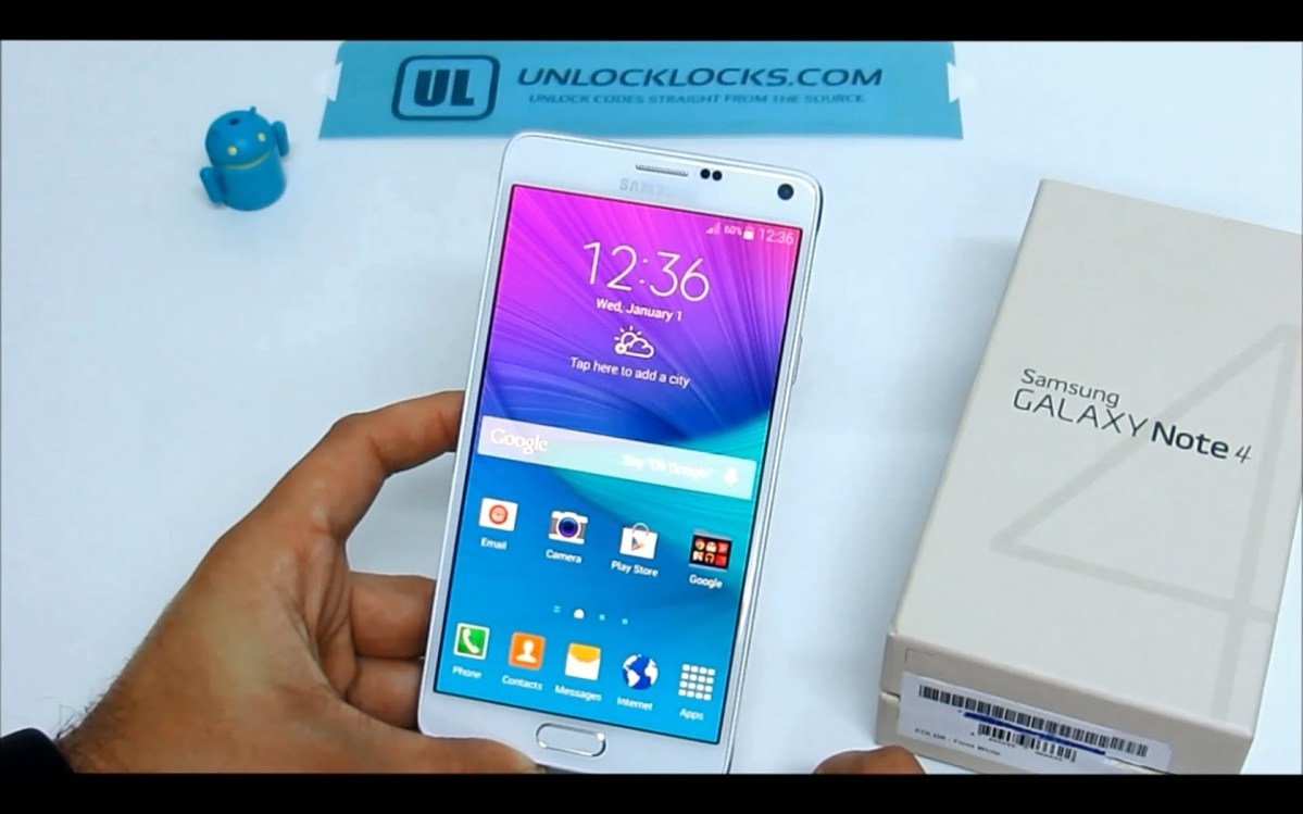 unlock samsung note 4