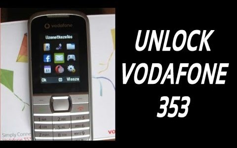 How To Unlock Vodafone 353 (Fortune) By Unlock Code.