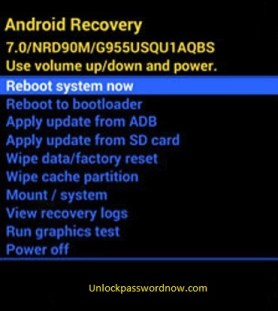 Android Phone Hard Reset - Reboot option