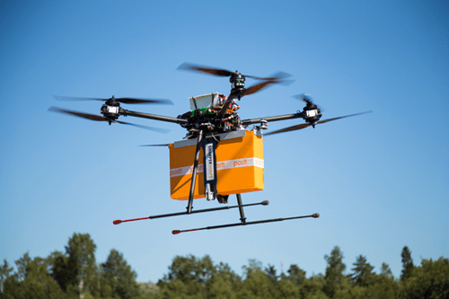Four day Experiment of e-Commerce Delivery Drones in Finland