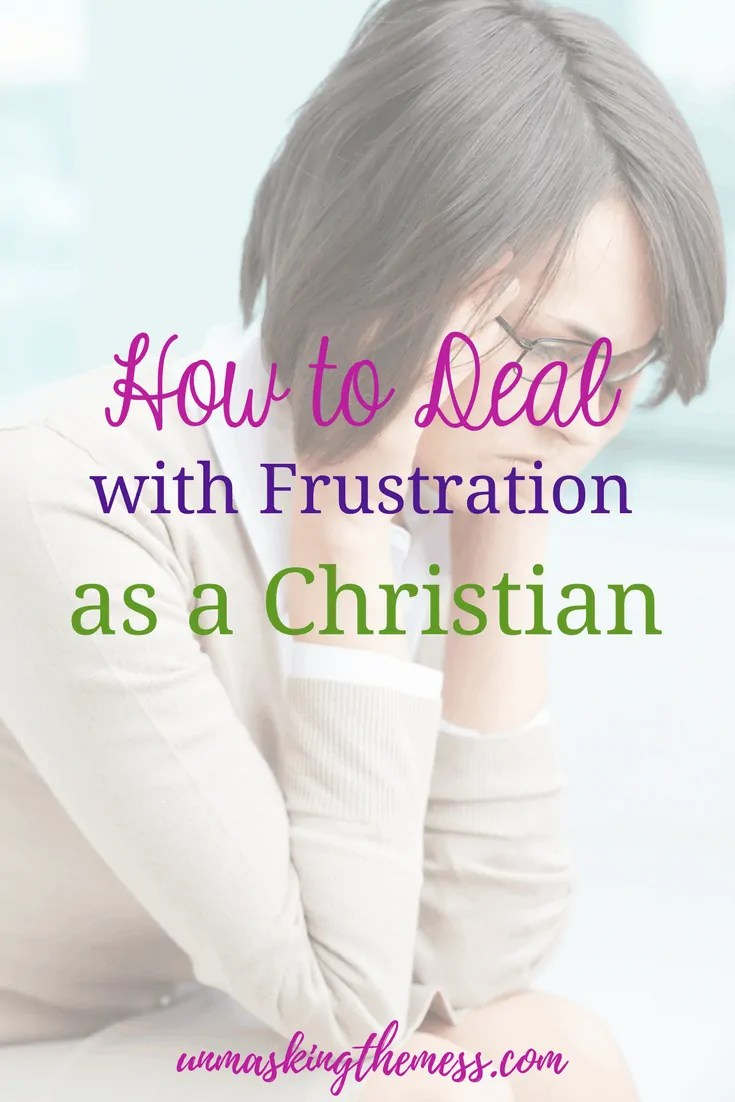How to Deal with Frustration as a Christian. When I find myself getting flustered, that's my clue to choose God, His truths and promises in His word. Frustration doesn't have to lead me away from God or keep me from growing closer to Him. #prayer #dealingwithfrustration #stress #BibleVerses #God