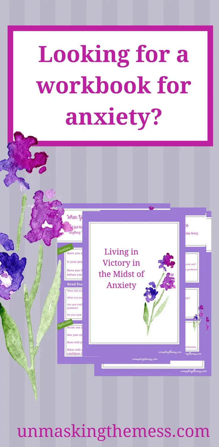 Unmasking the Mess Anxiety Products! Are you looking for ways to decrease or manage your anxiety? God's word can help us find peace and comfort in the midst of anxiety. #anxiety #anxietyrelief #tipsforanxiety #Scripture