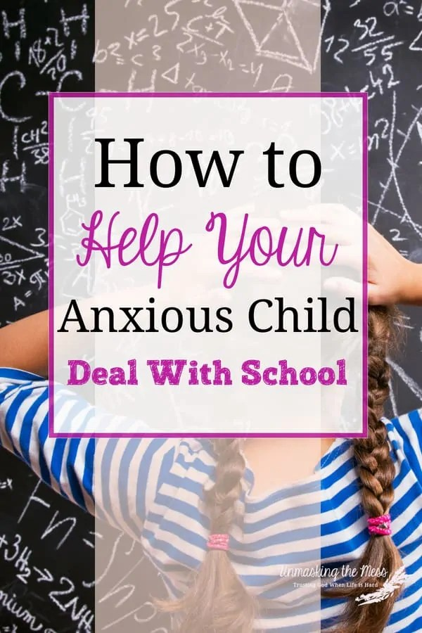 How to Help Your Anxious Child Deal With School. Anxiety is on the rise in our culture and our kids are showing signs of it too. How do we teach our anxious child how to deal with change and stress in life especially when it relates to school. God's word can help us and our anxious child deal with the tension that comes their way. #anxietyinkids #signs #copingskills #howtoturnitaround #student #schools