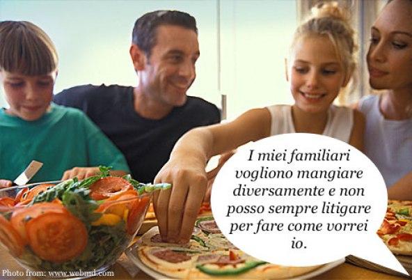 Famiglia cibo giustificazione