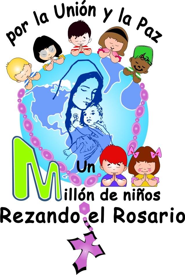 LOGO UN MILLON DE NIÑOS REZANDO EL ROSARIO POR LA UNIÓN Y LA PAZ
