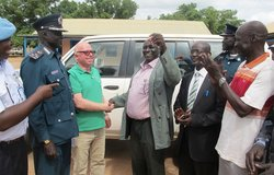 unmiss south sudan police car vehicle donation mobility protection of civilians human rights communities 22 May 2018