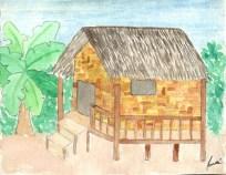 Casa de bambú, Laos - 10 de novembre de 2014