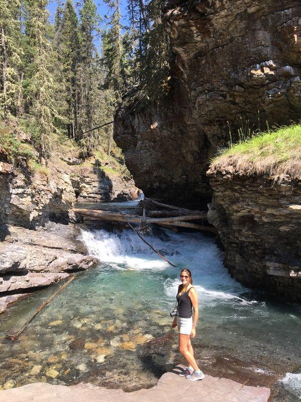 johnston canyon banff canada
