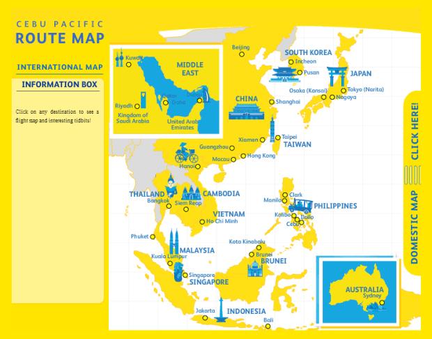 cebu pacific mapa de rutas