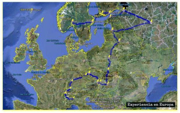 ruta de Experiencia en europa