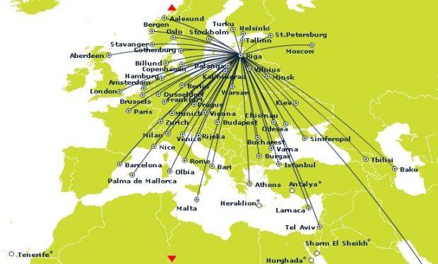 air baltic mapa de ruta