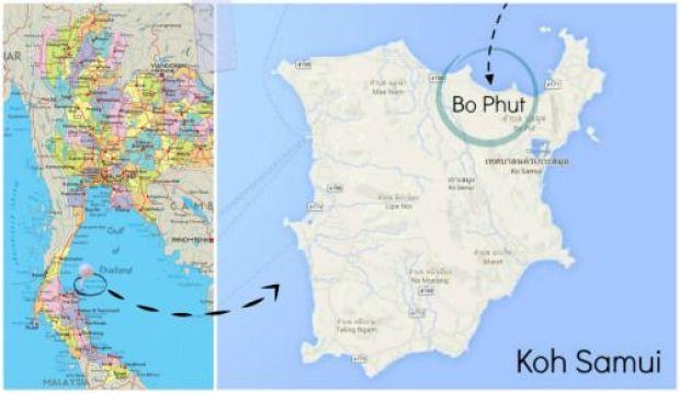 bo phut map