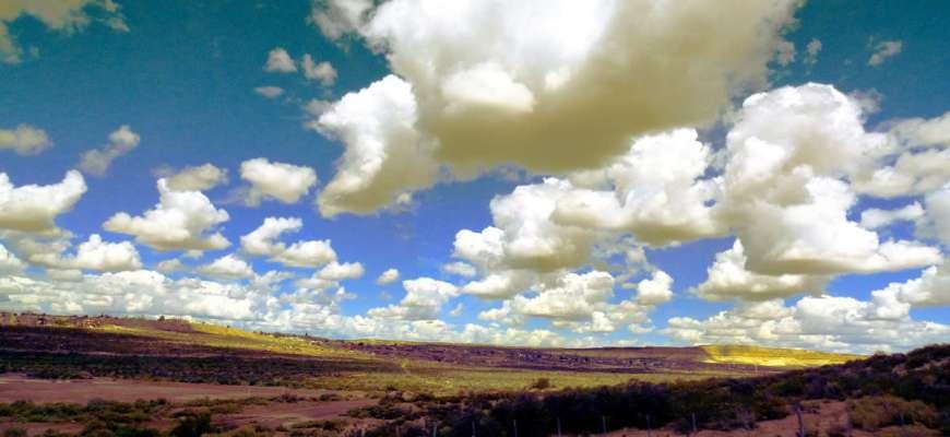Nubes de algodón en Chubut