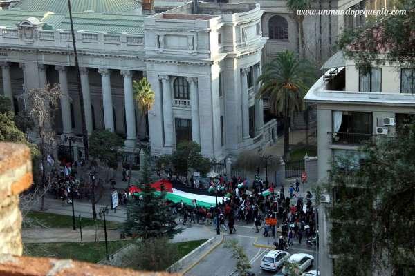 marcha palestina santiago